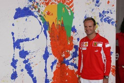 Vodafone event at Hockenheim Talhaus: Rubens Barrichello and his artwork