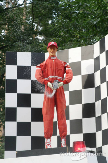 A Michael Schumacher dummy