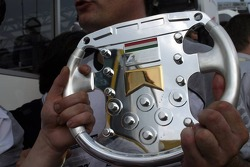 Third place trophy of Ralf Schumacher