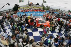 Victory lane: interviews for race winner Tony Stewart