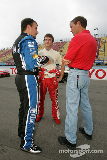 Ryan Newman, Kasey Kahne and Ray Evernham