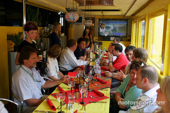 A Turkish style media dinner at Jordan motorhome