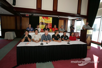 Pre-event press conference: drivers are presented