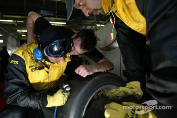 Dunlop technicians at work