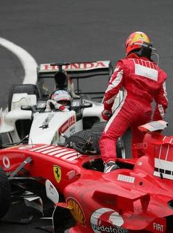 Michael Schumacher not happy with Takuma Sato