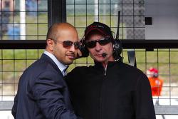 Sheikh Maktoum Hasher Maktoum Al Maktoum with Emerson Fittipaldi