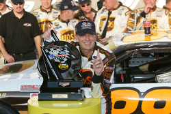 Victory lane: race winner Dale Jarrett celebrates