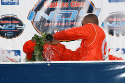 Bubbly flows down the back of Scott Dixon