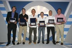 The GP2 series award winners pose