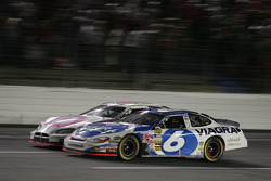 Mark Martin and Casey Mears battle
