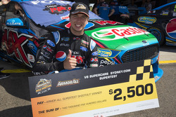Chaz Mostert, Prodrive Racing Australia Ford celebrates fastest time in testing