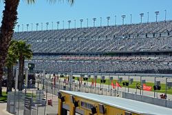 The 40,000 new seats going into turn 1 as seen from infield