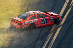 Justin Allgaier, HScott Motorsports Chevrolet in trouble