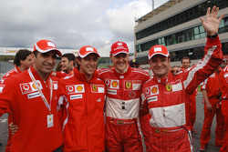 Marc Gene, Luca Badoer, Michael Schumacher and Rubens Barrichello