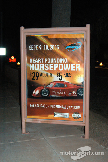 Race advertisement poster featuring No. 99
