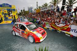 Daniel Sordo celebrates 2005 JWRC title