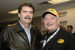 NASCAR president Mike Helton with governor of Georgia Sonny Perdue