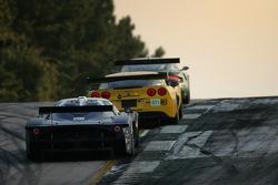 #3 Corvette Racing Corvette C6-R: Ron Fellows, Johnny O'Connell, Max Papis, #35 Maserati Corse Maserati MC12: Fabrizio De Simone, Andrea Bertolini, Fabio Babini