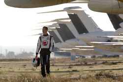 Alan van der Merwe walks the famous aircraft graveyard at the Mojave Airport