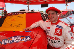 Rally winner François Duval celebrates first WRC victory
