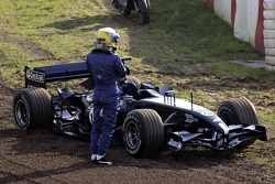 Nico Rosberg after his drive in the gravel
