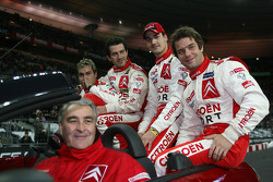 World Rally champions Sébastien Loeb and Daniel Elena, with Junior World Rally champions Daniel Sordo and Marc Marti