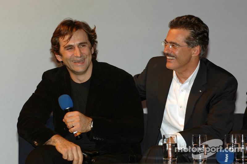 Dr Mario Theissen (BMW Motorsport Director) with Alex Zanardi