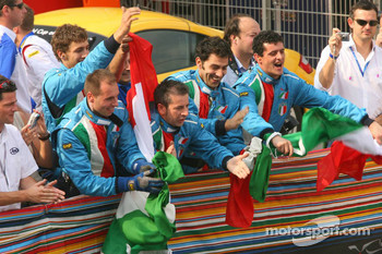 A1 Team Italy celebrate podium finish