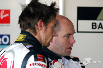 Jenson Button and Jock Clear