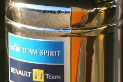 Fire hydrant outside the Renault F1 garage area