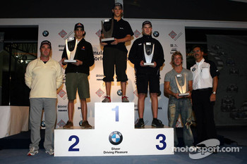 Podium: winner Marco Holzer with Sebastien Buemi and Nicolas Huelkenberg