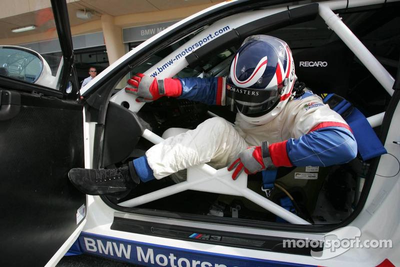BMW race car training: Nigel Mansell