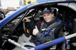 Volkswagen Motorsport departure in Wolfsburg: Jutta Kleinschmidt