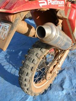 Rear wheel of Jacek Czachor's bike