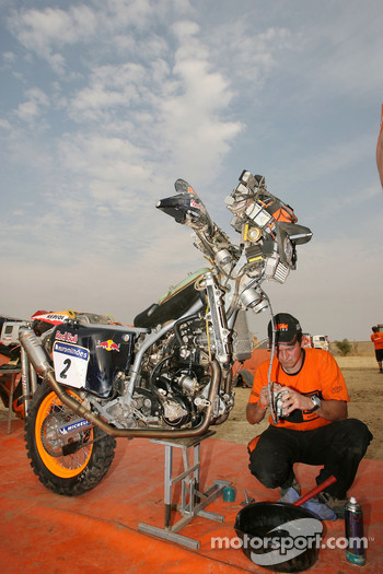 Repsol KTM team member at work