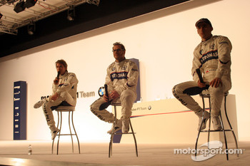 Nick Heidfeld, Jacques Villeneuve and Robert Kubica