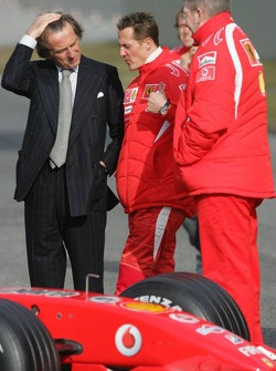 Luca di Montezemelo, Michael Schumacher and Ross Brawn