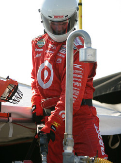 Target Chip Ganassi team member gets prepared