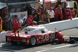 In the pits: #02 Target Chip Ganassi with Felix Sabates Lexus Riley: Scott Dixon, Dan Wheldon, Casey Mears