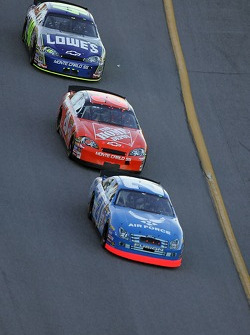 Ken Schrader, Tony Stewart and Jimmie Johnson