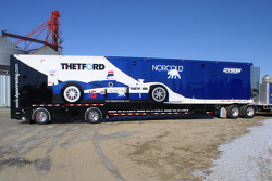 The new Dyson Racing transporter