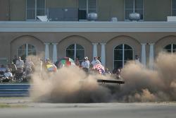 Spin for #009 Aston Martin Racing Aston Martin DB9: Jason Bright, Pedro Lamy, Stephane Sarrazin
