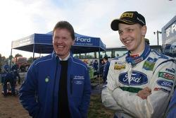 Mikko Hirvonen with Malcolm Wilson