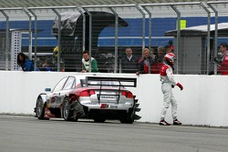 Frank Stippler just after the finish of the race after his car stopped