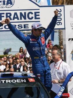 Winner Sébastien Loeb celebrates