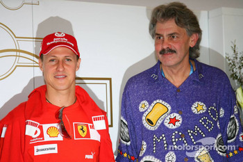 Michael Schumacher with Gordon Murray, ex Brabham and McLaren Designer
