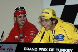 Press conference: Marco Melandri and Valentino Rossi