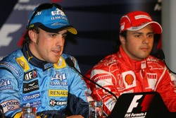 Press conference: pole winner Fernando Alonso and Felipe Massa