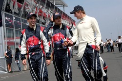 Neel Jani, Vitantonio Liuzzi and Scott Speed