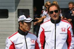 Takuma Sato and Franck Montagny